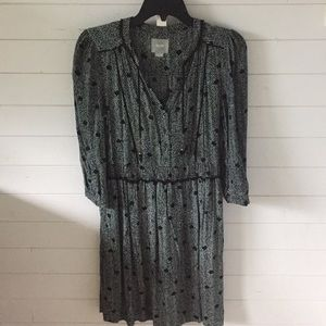 Anthropologie dot and zig zag pattern tunic dress